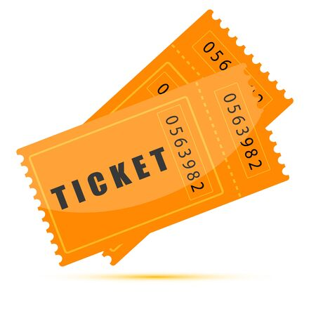 illustration of movie tickets on white background