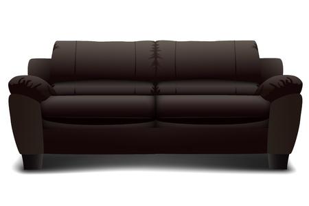 illustration of sofa set on isolated background Vector