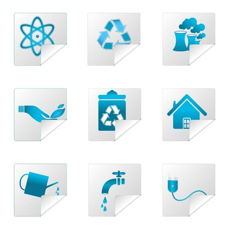 illustration of recycle icons on white background Stock Vector - 8441877