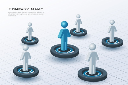illustration of networking sign on white background Vector