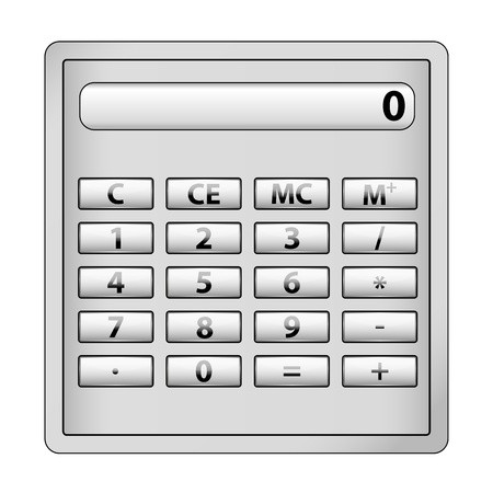 illustration of calculator icon on white background Stock Vector - 8442074