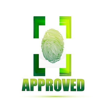 approved sign: illustration of approved sign with thumb on isolated background