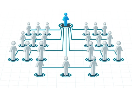 illustration of networking on isolated background Vector Illustration