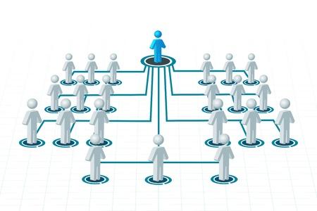 Ilustración de las redes sobre fondo aislado Ilustración de vector