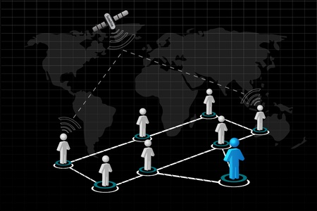 illustration of global networking on white background Stock Vector - 8442066