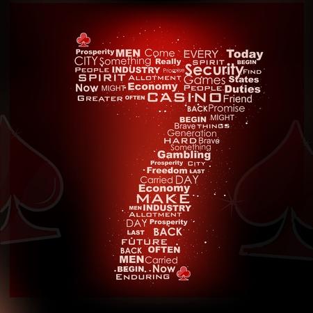 gambling wheel: illustration of casino icon