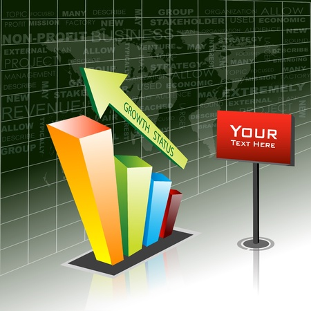 accounting design: illustration of growth business icon