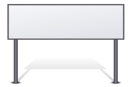 adboard: illustration of bill board on isolated background Illustration