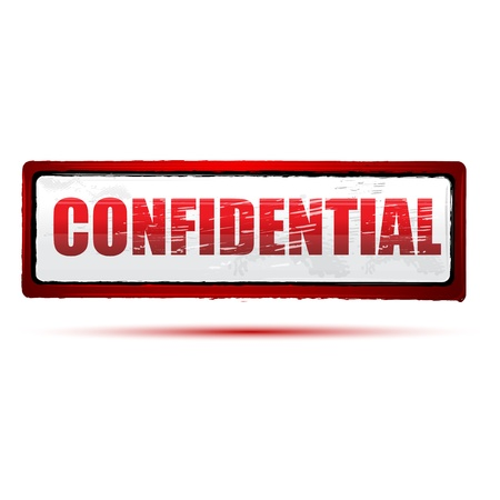 classified: illustration of confidential stamp on white background