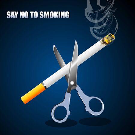 poisonous: illustration of no smoking on white background Illustration