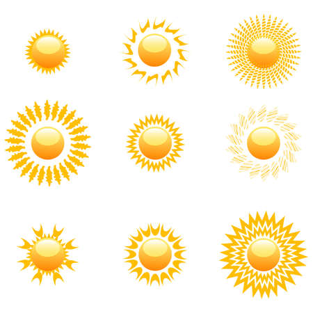 illustration of shapes of sun on white background Stock Vector - 8441745