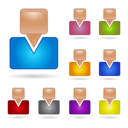 illustration of group of peoples on white background Vector