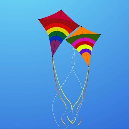 illustration of flying kites Stock Vector - 8441753