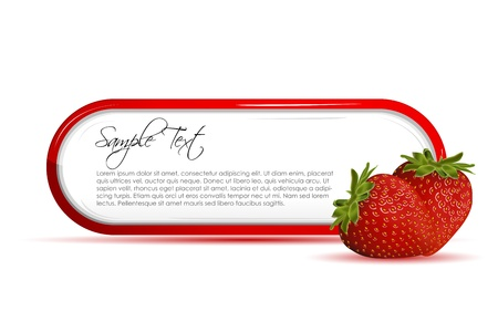 nutrients: illustration of strawberry card on white background