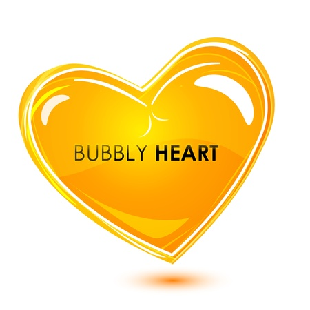 bubbly: illustration of bubbly heart on isolated background