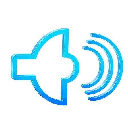 amplify: illustration of sound icon on isolated background
