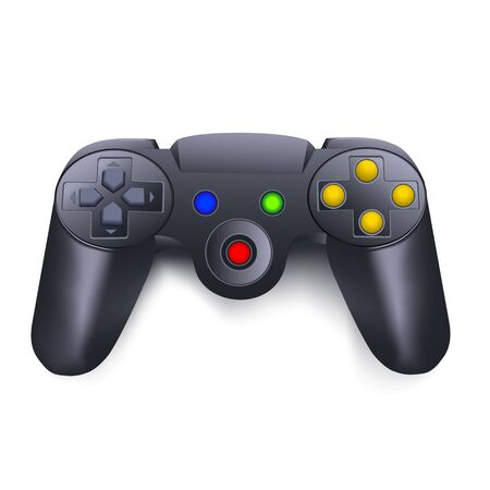 illustration of joystick on white background Vector