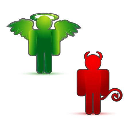 illustration of devil icons on isolated background illustration