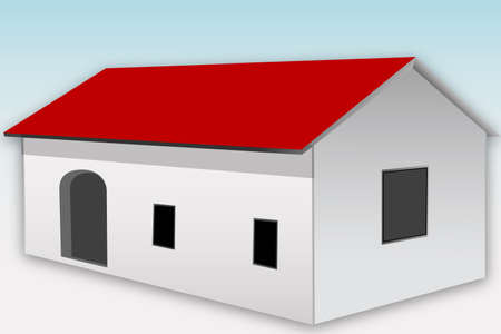 illustration of home icon on white background Stock Illustration - 8511354