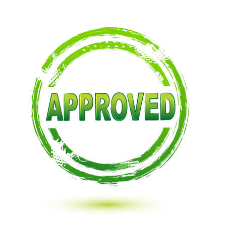 surety: illustration of approved seal on isolated background