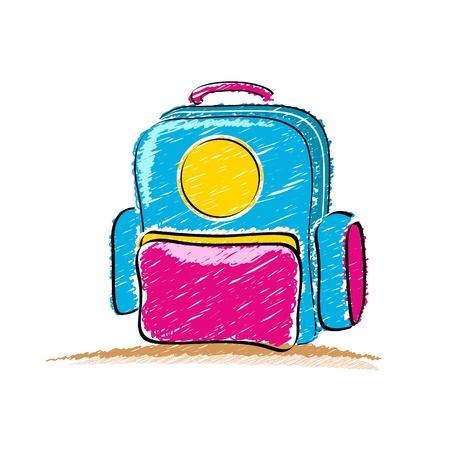 illustration of school bag on white background Stock Vector - 8552851