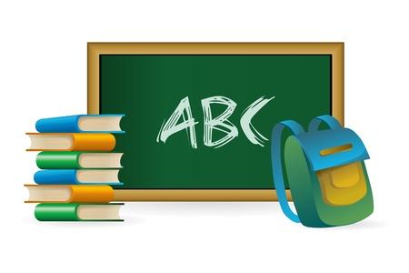 bookbag: illustration of back to school on white background
