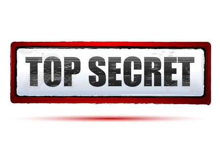 secret password: illustration of top secret on isolated background
