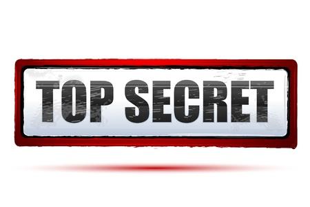 espionaje: Ilustraci�n de alto secreto sobre fondo aislado
