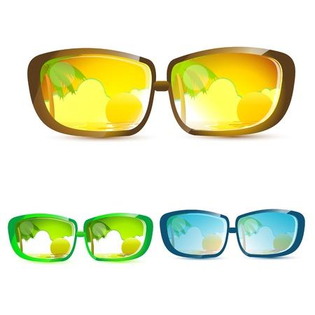 illustration of summer eye wears on white background Stock Vector - 8637749