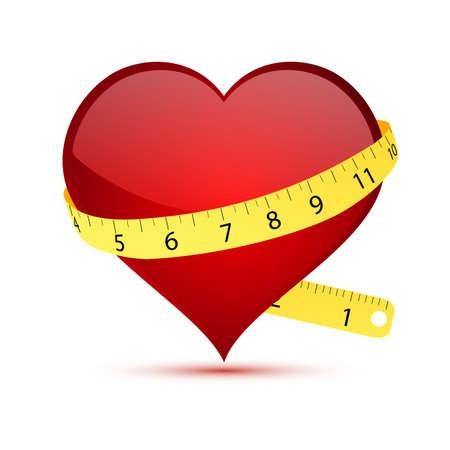truelove: illustrazione di cuore misura sullo sfondo isolato
