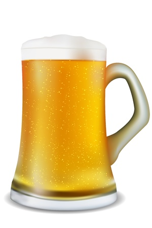 illustration of beer mug on white background Illustration