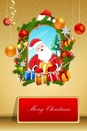 illustration of abstract merry christmas card Vector
