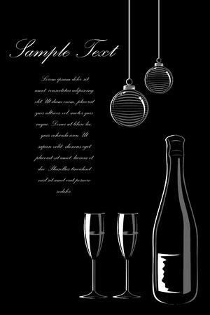 flet: Ilustracja karty Strona z wina