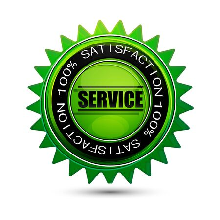 illustration of 100% satisfaction service tag on isolated background Vector
