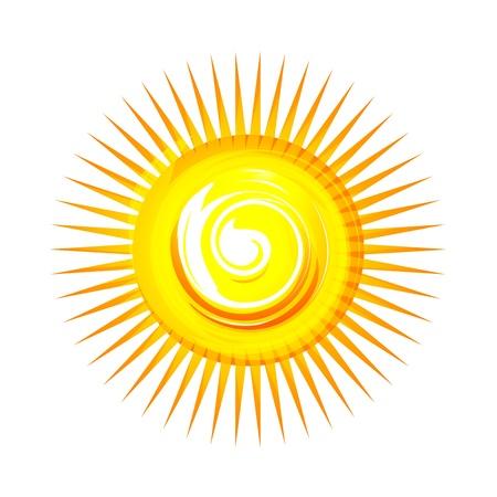 illustration of sun on white background Stock Vector - 8637722