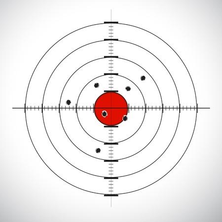 illustration of target board