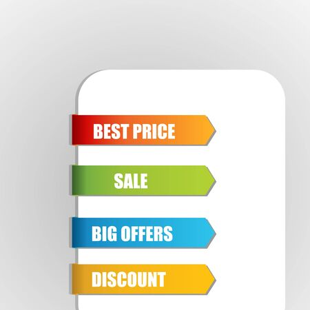 illustration of sale tags on white background Stock Vector - 8637215
