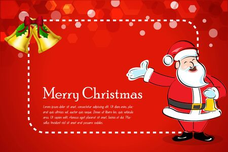illustration of abstract christmas card with santa on white background Vector