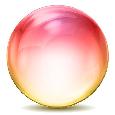 round glasses: Ilustraci�n de la colorida bola de cristal sobre fondo blanco