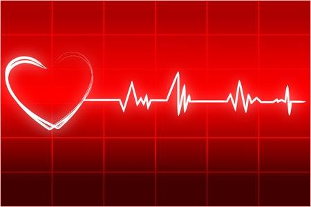 latidos del coraz�n: Ilustraci�n de latidos card�acos Vectores