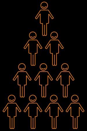 piramide humana: illustration of  human pyramid