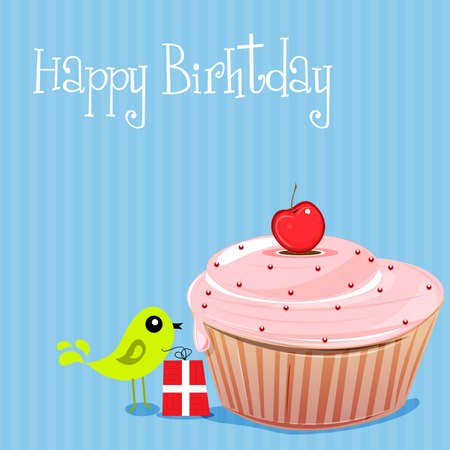 illustration of birthday card Vector