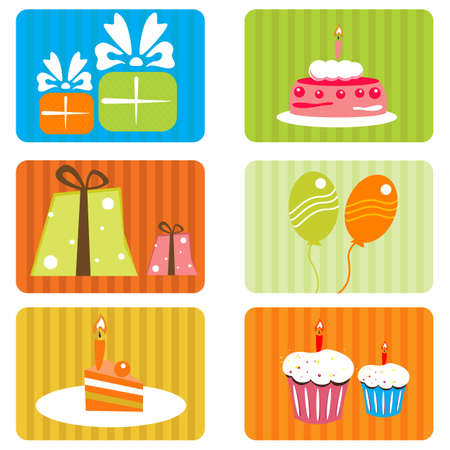 illustration of birthday template Stock Vector - 8637199