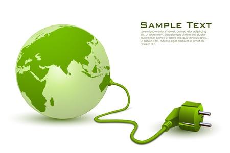 prise de courant: Illustration de la technologie mondiale sur fond blanc