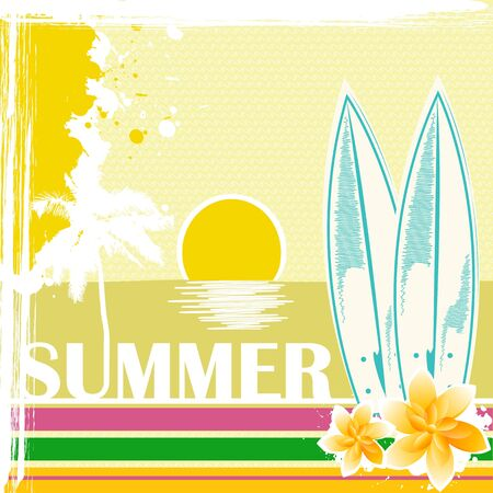 illustration of sketchy summer card Stock Vector - 8637611