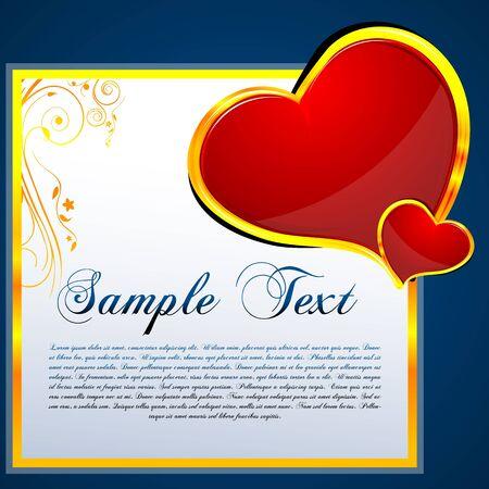 truelove: illustration of floral valentine card