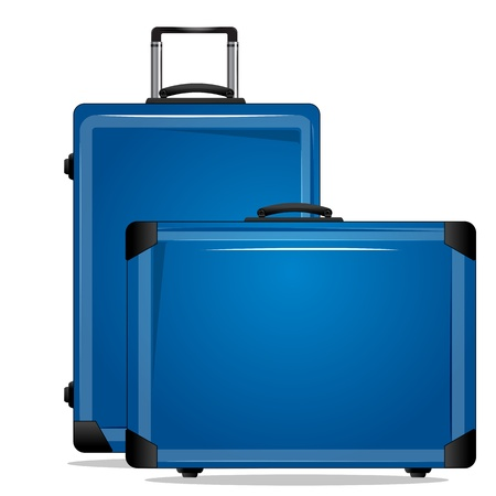 trolley case: illustration of trolley bags on white background Illustration