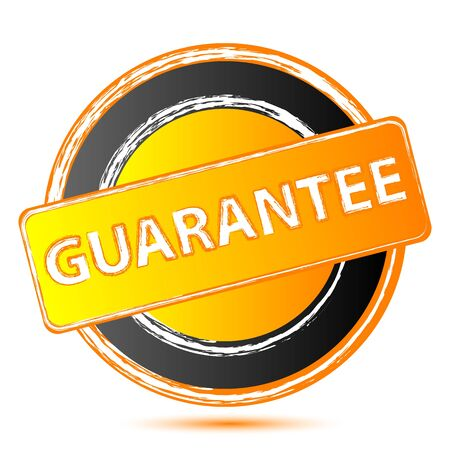 surety: illustration of guarantee seal on white background