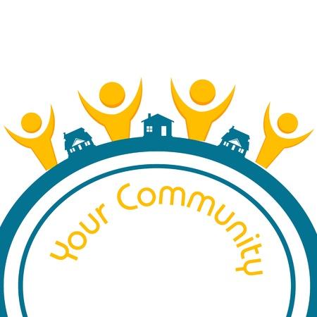 community people: illustrazione della vostra Comunit� su sfondo bianco