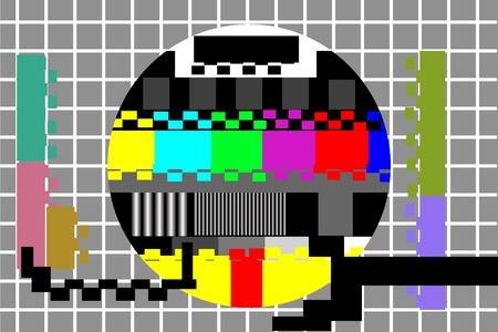 illustration of television color test pattern Vector